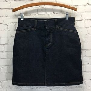 GAP Dark Wash Stretch Denim Above Knee Skirt 2